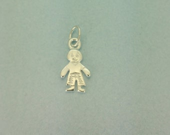 Sterling silver Little Boy charm.925 Sterling silver boy charm. Silver child charm. 925 Sterling Little Boy Charm