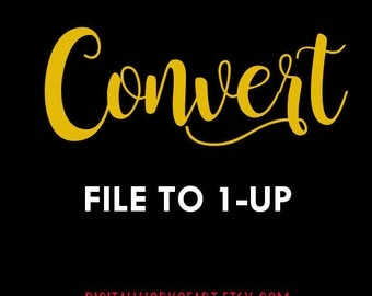 Convert File to 1-Up