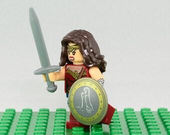 Wonder Woman Custom minifigure (Lego Compatible) DC Comic Justice League of America JLA Superhero Diana Rise of Justice Christmas Stocking 4