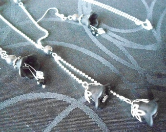 black and silver ornaments