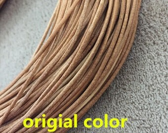 Genuine Leather Cord, Round Leather Cord, Leather String Cord, Leather Cord For Necklace, Jewelry Supplier, bracelet cord, 10meters,LEA-006
