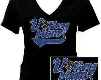 2017 VolleyMom - Rhinestone T-shirt