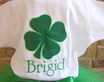 Green Shamrock Shirt - St Patricks Day Shirt - Personalized Shirt - Shamrock - Birthday Shirt - Name - Green - Lime Green
