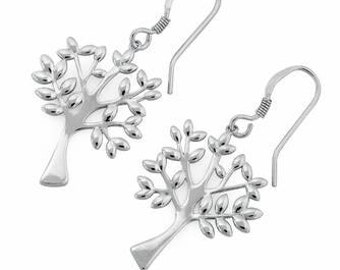 Tree of Life Earrings 925 Stirling Silver