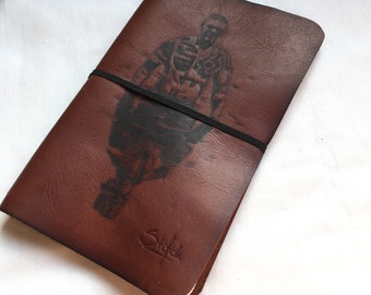 Taboo Leather Notebook, Leather Cover Moleskine, Handmade Cover, Leather Notebook Cover, Leather Journal Cover, Leather Burgundy Moleskine