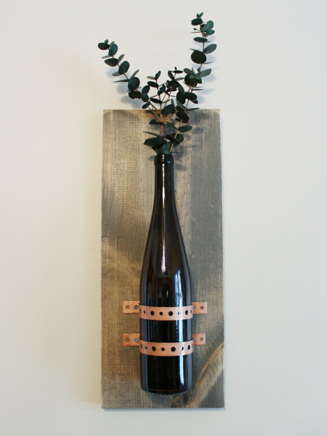 wine bottle decor rustic wall hanging kitchen decor