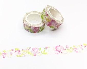 Pink Floral Washi Tape