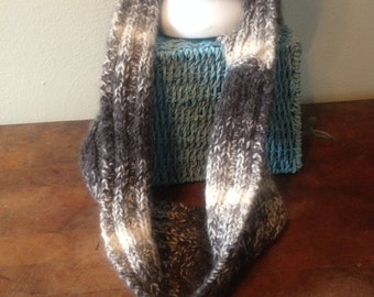 "KNIT 34"" CABLED COWL"