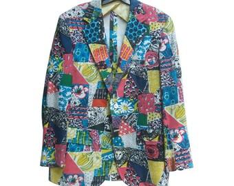 Lilly Pulitzer Men's Print Resort Jacket. 1970's.