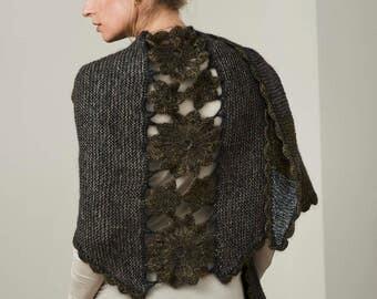 Lenes shawls PDF knitting pattern/women's wool scarf knit pattern/Ladies scarf jumper pattern/knit scarf pattern