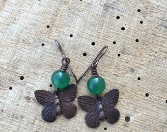 Vintaj Butterfly Earrings