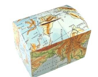 World map money-box