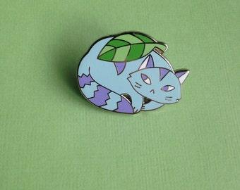 Cranky Cat Enamel Pin