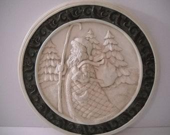 Santa Plate Decoration