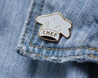 FREE SHIPPING! LAST one! Chef Enamel Pin Vintage Food Enamel Pin 90's Baby Cook Soft Enamel Pin