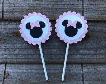 Minnie Cupcake Toppers