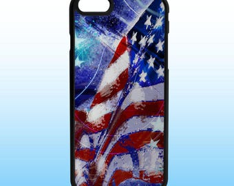 American Flag Painting Custom Iphone Case, Iphone 5, 6, 7, 8, X