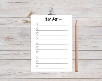Printable To-Do List (Instant Download)