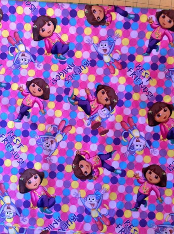 Dora and friends tv movie cartoon comic liscensed novelty for Novelty children s fabric