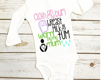 breastfeeding baby shirt/ cloth diaper/ baby wearing/ baby outfit/ crunchy mom