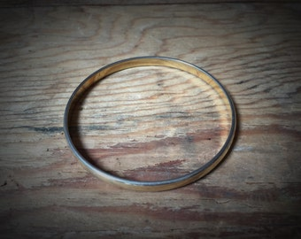 Vintage Simple Monet Gold Bangle