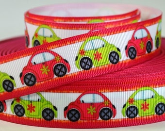 "7/8"" VW Bug - Car - Grosgrain Ribbon"