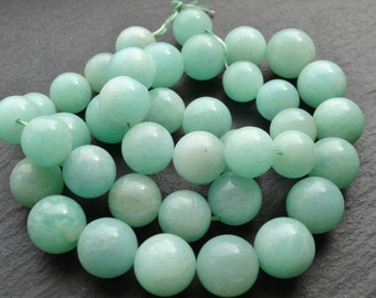 Amazonite rounds, graduated 12mm - 15mm, 50cm string, 39 beads (2870)