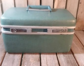 Royal Traveler Vintage Blue Suitcase/Small Suitcase/Retro Suitcase/Vintage Luggage/Old Suitcase/Blue Luggage/Retro Suitcases/Suitcase/Travel