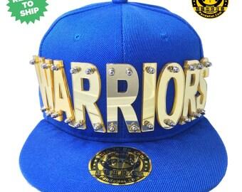 Warriors Acrylic Letter Snapback Hat