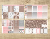 Rose Gold & Marble 4 Page Weekly Kit for Erin Condren Vertical LifePlanner