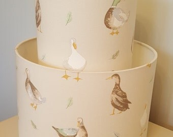 Jenny Duck Drum Lampshade - handmade lamp shades in 3 sizes!