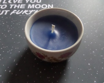 Dark blue candle