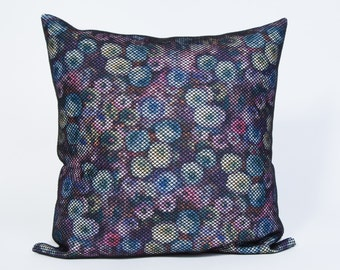 Floral Maze Pillow Cover 14x14. Decorative Pillow Case. Pillows for couch. Colorful Pillows.