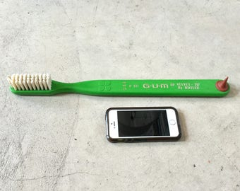 Advertising Toothbrush, Oversized Dental Collectible, Ca: 1960s.