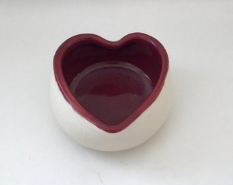 Heart Pottery Bowl