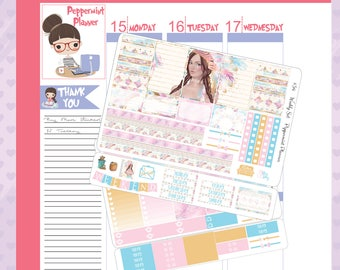 H Planner Native Weekly Stickers #34