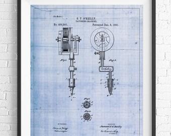 Tattooing Machine Patent, Tattoo Machine Patent, Tattoo Gun Patent, Tattoo Art, Tattoo Print, Tattoo Artist Gift, Tattoo Lover, Poster
