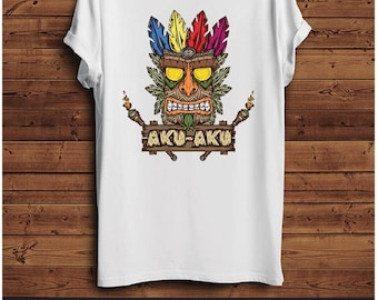 Crash Bandicoot Aku Aku T Shirt