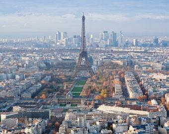 Paris skyline, Paris Canvas, Paris canvas skyline, Paris skyline Wall canvas, 3 panel or single panel Paris France art, Europe photo canvas