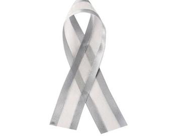 Organza Ribbon - Satin Edge - Silver - 1-1/2 inches - 20 yards