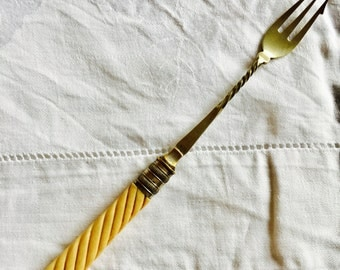 Silver plated pickle fork. Vintage.