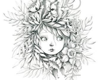 """Wild print A4 """"foliatura - Lasius fuliginosus"""""""
