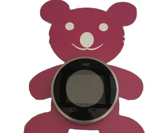 Pink Teddy Bear NEST Thermostat wall plate
