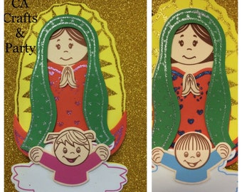 Virgin of Guadalupe 9inch foam decor 12 PCS- Fomi de Virgen de Guadalupe para Bautizo, Confirmacion- Baptism foam decor