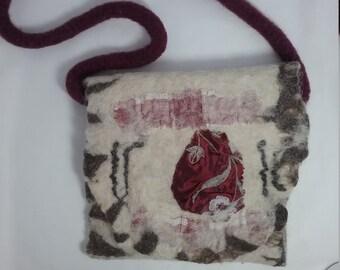 Hand felted handbag