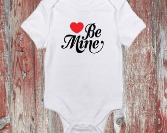 Be Mine Valentine's Day Infant Bodysuit or Toddler Tshirt
