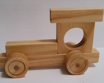 Bantam - Wooden Toy Train - Paint yourself -OR- Organic Finish