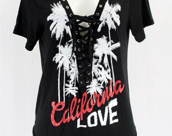 California Love Lace Up Tee