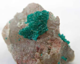 Dioptase On Quartz, Koakoveld, Namibia