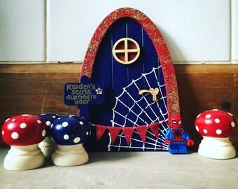 Lego spiderman etsy for Batman fairy door